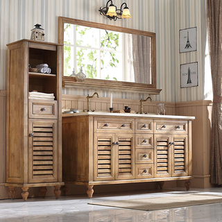 Foshan Factory Directly Solid Wood Bathroom Vanity