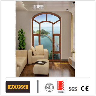 Aluminium Casement Window Series for Villa with High Quality Double Toughened Glass Glass with As2047 Standard