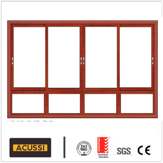 Hot Sale Aluminium Sliding Soundproof Window with Double Tempered Glass for Building Project