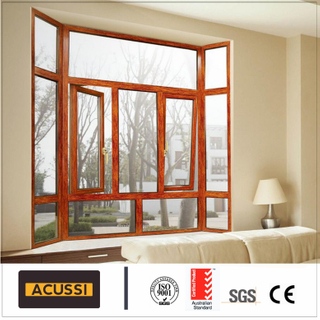 Aluminum Casement Windows Soundproof Aluminium Windows for Building Project