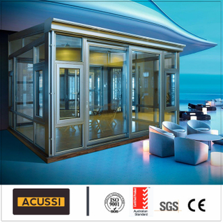 European Style Aluminium Alloy Glass House Winter Sunroom