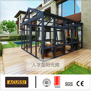 Classical Aluminium Porth Garden Room Energy-Saving Aluminum Glass House Garden House Sunroom for Independent Building