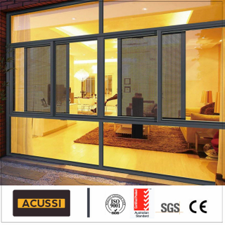 Custom Made Design   Metel Double Glazing Aluminum Sliding Window